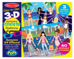 Easy-to-See 3-D - Fashions Activity Book and Stickers