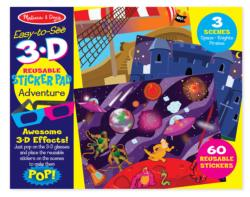 3D Coloring Book - Boy Construction Activity Book and Stickers