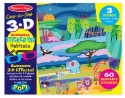 Easy-to-See 3-D - Habitats Activity Book and Stickers