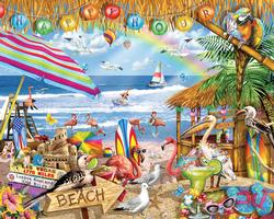 Happy Hour Beach Jigsaw Puzzle