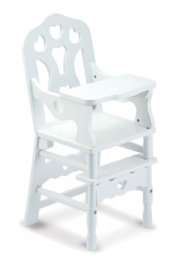 Wooden Doll High Chair Toy