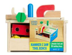 Hammer & Saw Tool Bench Pretend Play
