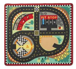 Round The Race Track Rug Vehicles Toy