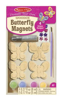 Wooden Butterfly Magnets - DYO Butterflies and Insects Magnetic