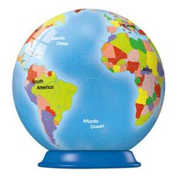 Puzzleball - Earth (54pc) Maps Puzzleball