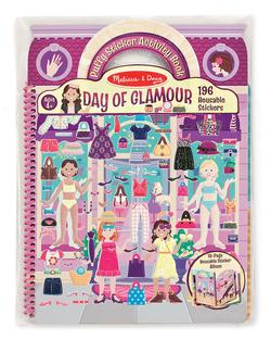 Deluxe Puffy Sticker Album - Day of Glamour People Activity Books and Stickers