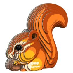 Chipmunk Eugy Animals 3D Puzzle