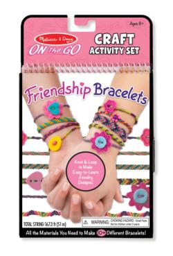 On-the-Go Crafts - Friendship Bracelets Activity Book and Stickers