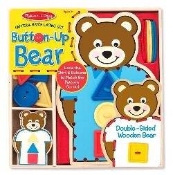 Button-Up Bear Pattern Match Lacing Set Toy