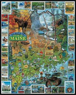 Best of Maine Maps Jigsaw Puzzle