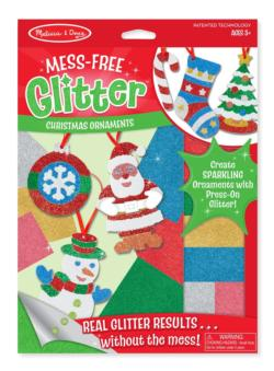 Mess Free Glitter - Christmas Ornaments Santa