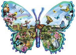 Butterfly Farm Butterflies and Insects Jigsaw Puzzle