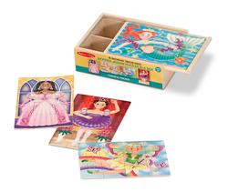 Fanciful Friends Puzzles in a Box Mermaids Jigsaw Puzzle