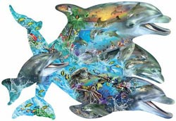 Song of the Dolphins Dolphins Jigsaw Puzzle