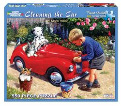 Cleaning the Car People Jigsaw Puzzle