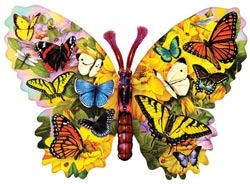 Wings of Color Butterflies and Insects Shaped Puzzle