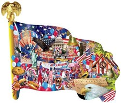 Freedom Parade - Scratch and Dent Fourth of July Jigsaw Puzzle