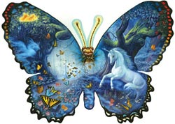 Fantasy Butterfly Waterfalls Shaped Puzzle