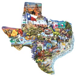 Welcome to Texas! - Scratch and Dent United States Jigsaw Puzzle