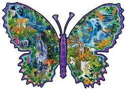 Rainforest Butterfly Butterflies and Insects Shaped