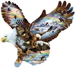 Eagle Eye Eagles Jigsaw Puzzle
