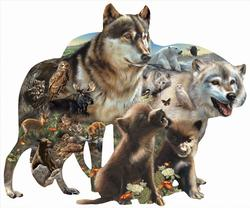 Wolf Pack Wolves Shaped