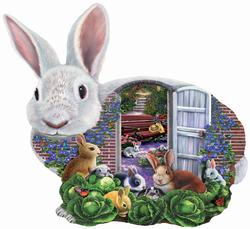 Garden Bunnies Easter Jigsaw Puzzle