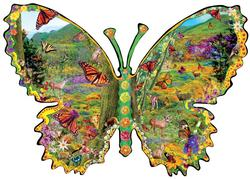 Monarch Meadow Butterflies and Insects Jigsaw Puzzle