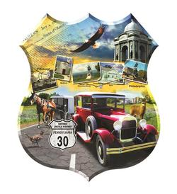 Lincoln Highway Cars Jigsaw Puzzle