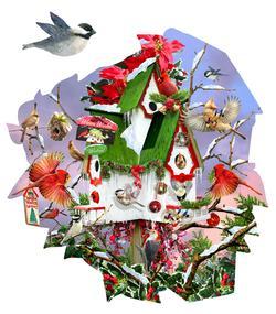 Treetop Holidays Snow Jigsaw Puzzle