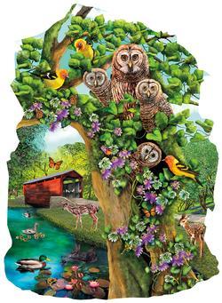 Owl Condo Birds Jigsaw Puzzle