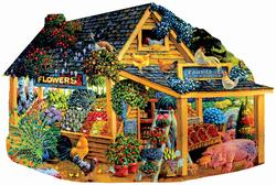 Farmer Jeb's Market Flowers Jigsaw Puzzle