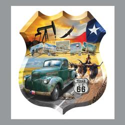 Texas 66 Nostalgic / Retro Shaped