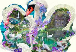 Swan Dreams Garden Shaped