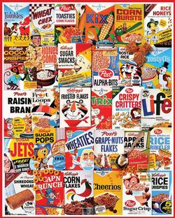 Cereal Boxes Collage Jigsaw Puzzle