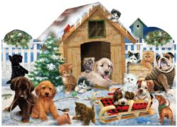Playing in the Snow Christmas Jigsaw Puzzle