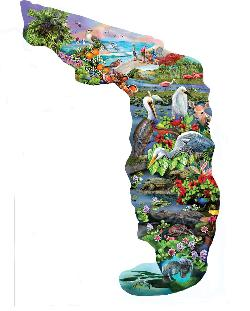 Florida Wildlife Wildlife Shaped Puzzle