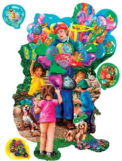 The Balloon Vendor Collage Jigsaw Puzzle
