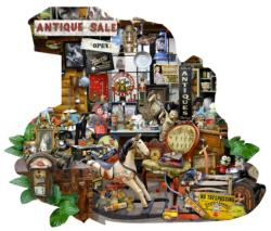 Antiques for Sale Nostalgic / Retro Shaped Puzzle