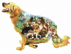 Waiting for a Walk - Scratch and Dent Baby Animals Jigsaw Puzzle