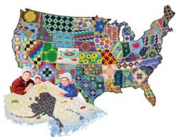 An American Quilt United States Shaped