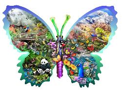 Misty Mountain Butterfly Butterflies and Insects Jigsaw Puzzle