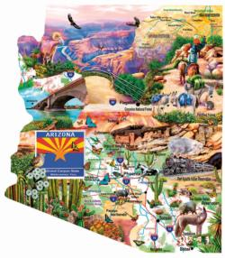 Southwest Travels Maps / Geography Jigsaw Puzzle