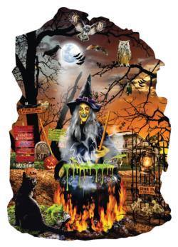 Witch's Brew Halloween Jigsaw Puzzle