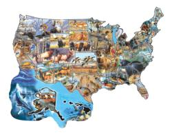 Wild America Geography Jigsaw Puzzle