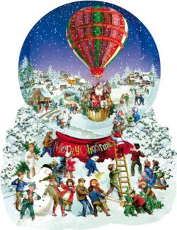 Old Fashioned Snow Globe Christmas Jigsaw Puzzle
