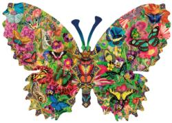 Butterfly Menagerie Flowers Jigsaw Puzzle