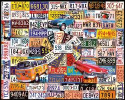 License Plates Americana & Folk Art Jigsaw Puzzle