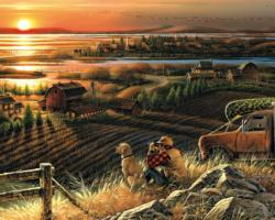 Best Friends (Terry Redlin Collection) Sunrise/Sunset Jigsaw Puzzle