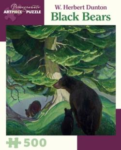 Black Bears Wildlife Jigsaw Puzzle